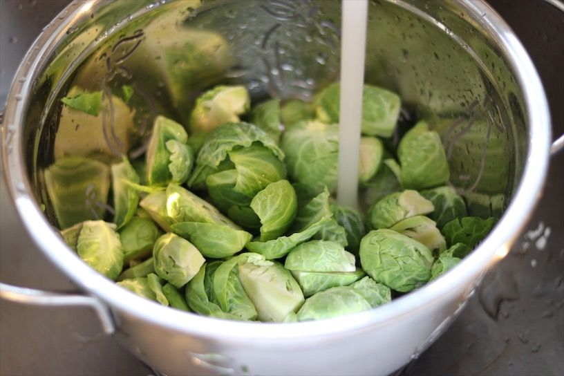 Washing Brussel Sprouts