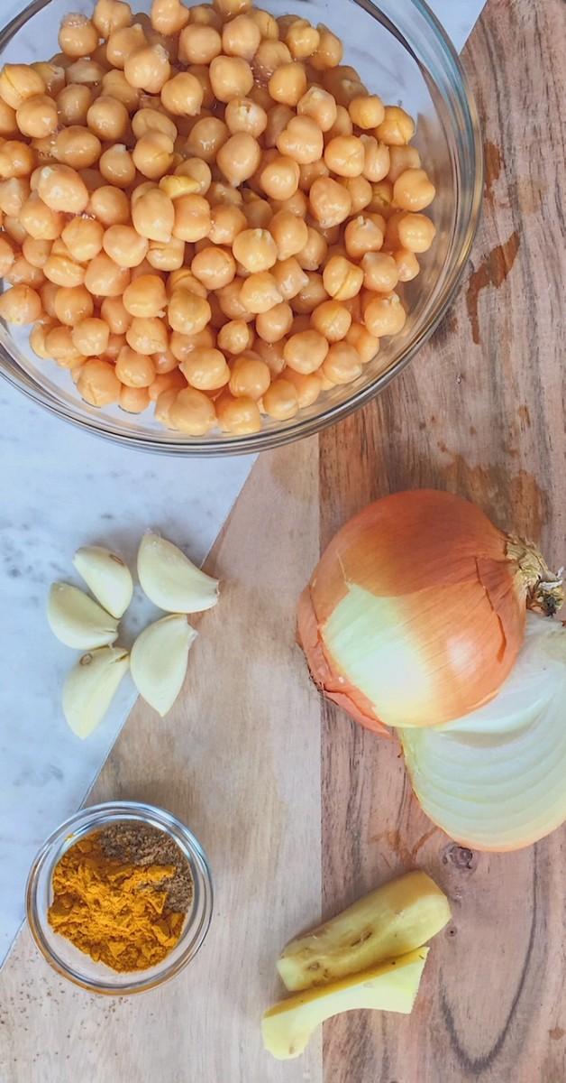 Golden Thai Chickpea Ingredients