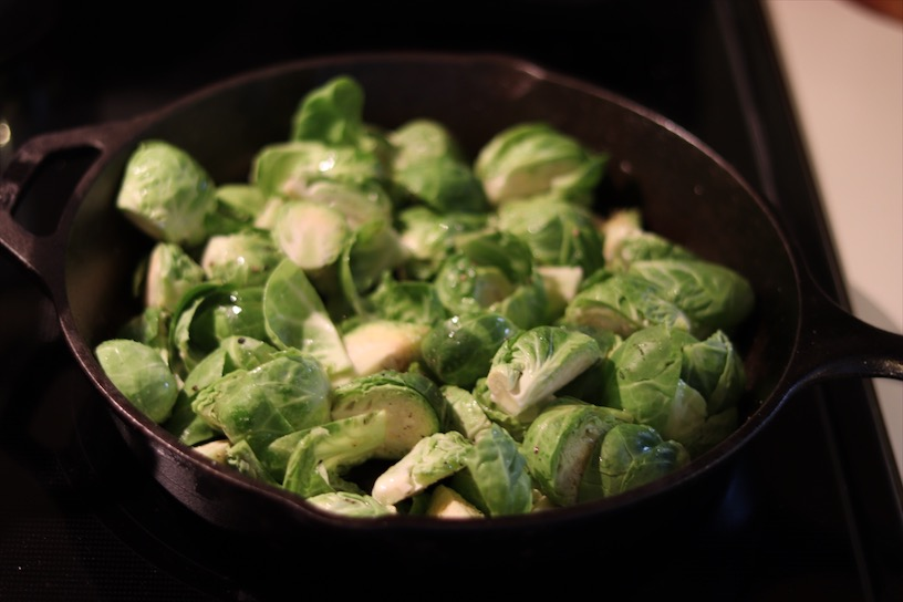 Brussels in cast iron pan